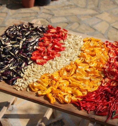 peperoncini essiccati al sole