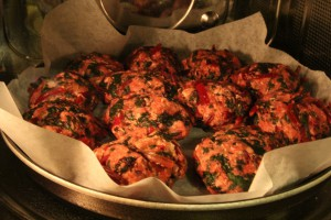 polpette di carne e verdure al microonde