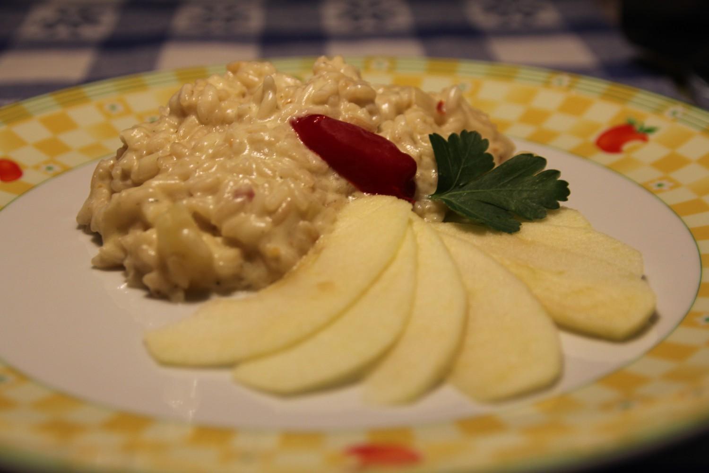 risotto mele e formaggio