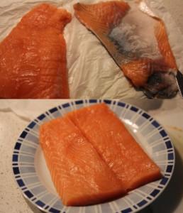 preparare salmone per tartare