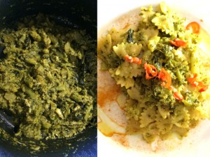 ricetta pasta curcuma cime di rapa